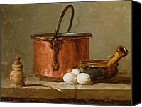 Signed Photo Canvas Prints - Still Life Canvas Print by Jean-Baptiste Simeon Chardin