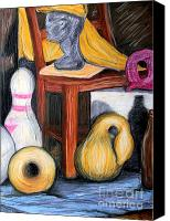 Still Life Pastels Canvas Prints - Still Life Number One Canvas Print by Art Hill Studios