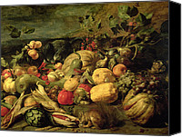 Squirrel Painting Canvas Prints - Still Life of Fruits and Vegetables Canvas Print by Frans Snyders