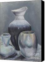 Still Life Pastels Canvas Prints - Still Life Pastel Canvas Print by Melinda Saminski