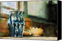 Antiques Digital Art Canvas Prints - Still Life With Blue Jug Canvas Print by Lois Bryan