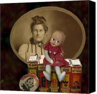 Antique Books Canvas Prints - Still life with doll Canvas Print by Jeff Burgess