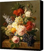 Later Canvas Prints - Still Life with Flowers and Fruit Canvas Print by Jan Frans van Dael