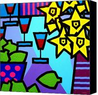 Lichtenstein Canvas Prints - Still Life With Limes Canvas Print by John  Nolan
