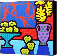 Contemporary Dance Painting Canvas Prints - Still Life With Matisse Canvas Print by John  Nolan
