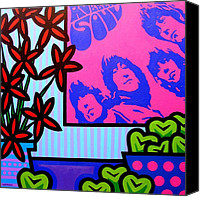 Lichtenstein Canvas Prints - Still Life With The Beatles Canvas Print by John  Nolan