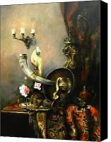 Lemon Canvas Prints - Still-life with the dojra Canvas Print by Tigran Ghulyan