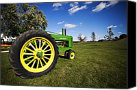 John Deere Tractor Canvas Prints - Still Running Like a Deere Canvas Print by CJ Schmit