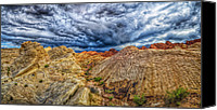 Valley Of Fire Canvas Prints - Stimulus Canvas Print by Stephen Campbell