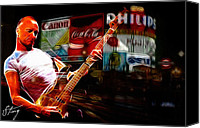 Guitar Hero Canvas Prints - Sting in Concert Canvas Print by Stefan Kuhn