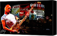 Guitar Hero Canvas Prints - Sting rocks London Canvas Print by Stefan Kuhn