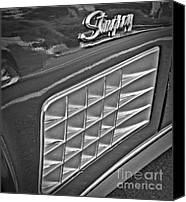 Monochrome Hot Rod Canvas Prints - Stingray Canvas Print by Chalet Roome-Rigdon