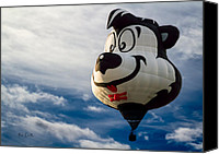 Balloon Festival Canvas Prints - Stinky The Skunk Canvas Print by Bob Orsillo