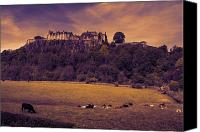 Castle Pyrography Canvas Prints - Stirling Castle Sunset Canvas Print by Stephen McCluskey