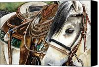 Cowboy Canvas Prints - Stirrup Up Canvas Print by Nadi Spencer