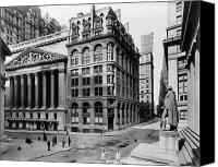Hall Canvas Prints - STOCK EXCHANGE, c1908 Canvas Print by Granger