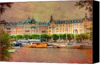 Skylines Canvas Prints - Stockholm Sweden Canvas Print by Mark Richards