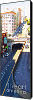 Hotels Digital Art Canvas Prints - Stockton Street Tunnel in Heavy Shadow . Long Version Canvas Print by Wingsdomain Art and Photography