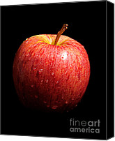 Red Apple Canvas Prints - Stolen Apple Canvas Print by Andee Photography