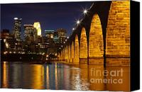 Mississippi River Canvas Prints - Stone Arch Bridge Canvas Print by Tammy Wolfe