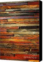 Brown Color Canvas Prints - Stone Blades Canvas Print by Carlos Caetano