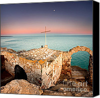 Landmarks Canvas Prints - Stone chapel Canvas Print by Evgeni Dinev