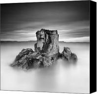 Pans Canvas Prints - Stone face Canvas Print by Pawel Klarecki