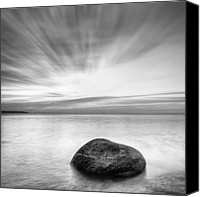 Bulgaria Canvas Prints - Stone in the sea Canvas Print by Evgeni Dinev