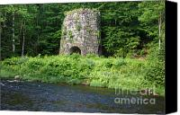 Octagonal Canvas Prints - Stone Iron Furnace - Franconia New Hampshire USA Canvas Print by Erin Paul Donovan