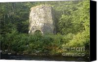 Octagonal Canvas Prints - Stone Iron Furnace -Franconia NH USA Canvas Print by Erin Paul Donovan