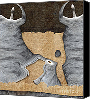 Dancing Digital Art Canvas Prints - Stone Men 27 - Mama Fiesta Canvas Print by Variance Collections