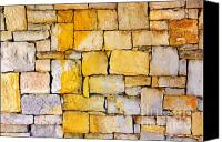 Layered Canvas Prints - Stone Wall Canvas Print by Carlos Caetano
