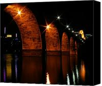 Mississippi River Canvas Prints - Stonearch Bridge - Minneapolis Canvas Print by Angie Marks