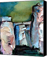 Mystical Drawings Canvas Prints - Stonehenge Canvas Print by Mindy Newman