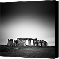 United Kingdom Canvas Prints - Stonehenge Canvas Print by Nina Papiorek