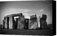 Number 7 Canvas Prints - Stonehenge No 1 BW Canvas Print by Kamil Swiatek