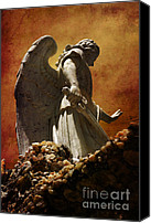Angel Canvas Prints - STOP in the name of God Canvas Print by Susanne Van Hulst
