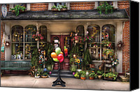 Pennsylvania Dutch Canvas Prints - Store - Strasburg PA - Petals and Beans Canvas Print by Mike Savad