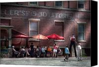 Vendor Canvas Prints - Storefront - Bastile Day in Frenchtown Canvas Print by Mike Savad