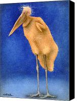 Naked Canvas Prints - Stork naked... Canvas Print by Will Bullas
