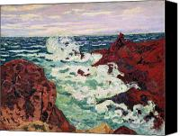 Storm Painting Canvas Prints - Storm at Agay Canvas Print by Jean Baptiste Armand Guillaumin