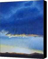 Storm Painting Canvas Prints - Storm at La Mesilla Canvas Print by Brian  Commerford
