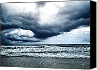 Barbara Middleton Canvas Prints - Storm at sea Canvas Print by Barbara Middleton