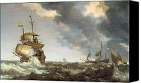 Storm Painting Canvas Prints - Storm at Sea Canvas Print by Bonaventura Peeters