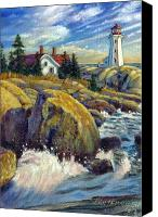 Lighthouse Canvas Prints - Storm Blowing In Canvas Print by John Lautermilch