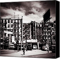 Nyc Canvas Prints - Storm Clouds - Chinatown - New York City Canvas Print by Vivienne Gucwa