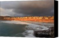 Kernow Canvas Prints - Storm Clouds Over Polzeath Canvas Print by Carl Whitfield