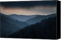 Stormy Canvas Prints - Storm Clouds over the Smokies Canvas Print by Andrew Soundarajan