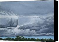 Storm Clouds Pastels Canvas Prints - Storm Clouds Canvas Print by Stephen Duffin
