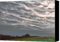 Storm Painting Canvas Prints - Storm Front Canvas Print by Pete Maier